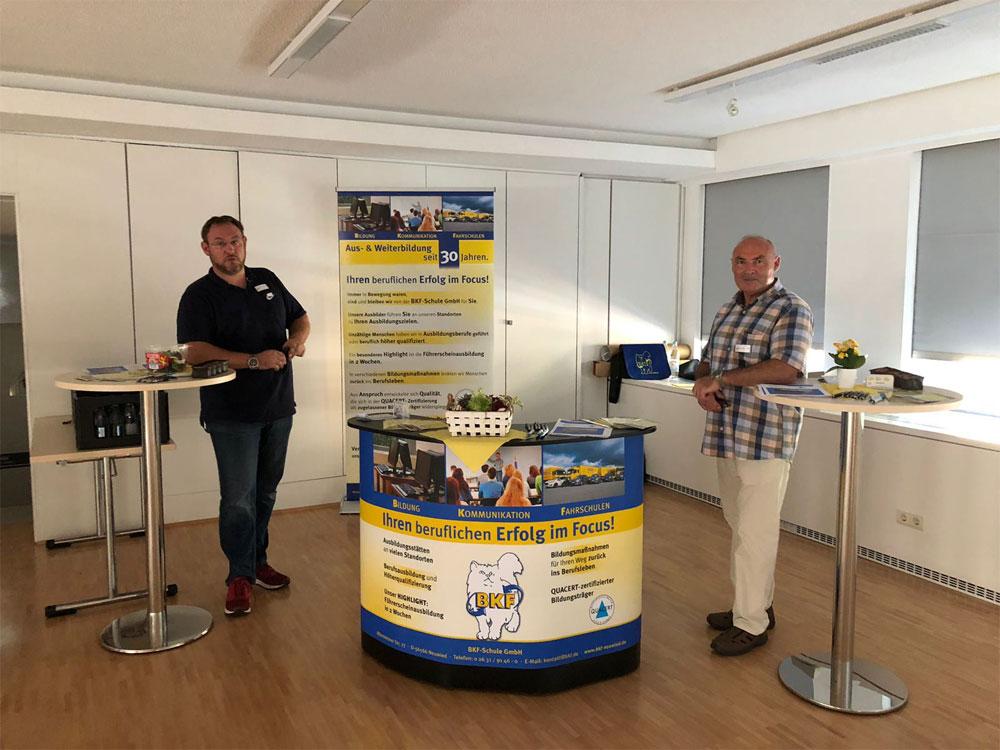 Teilnahme der BKF Schule GmbH an der Bildungsmesse im Jobcenter Neuwied